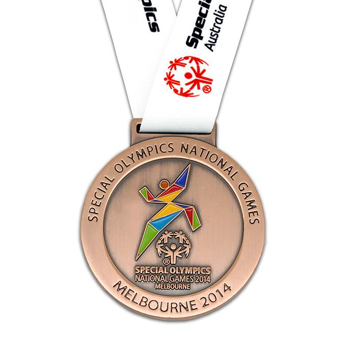 medaljer i eget design bronze med baand adverties