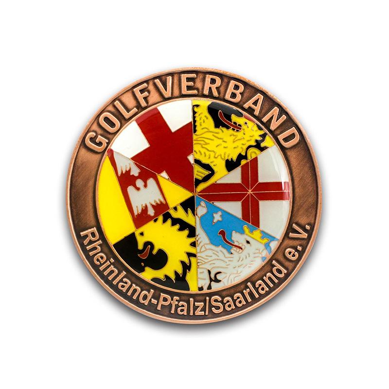 pin med eget logo i emalje adverties