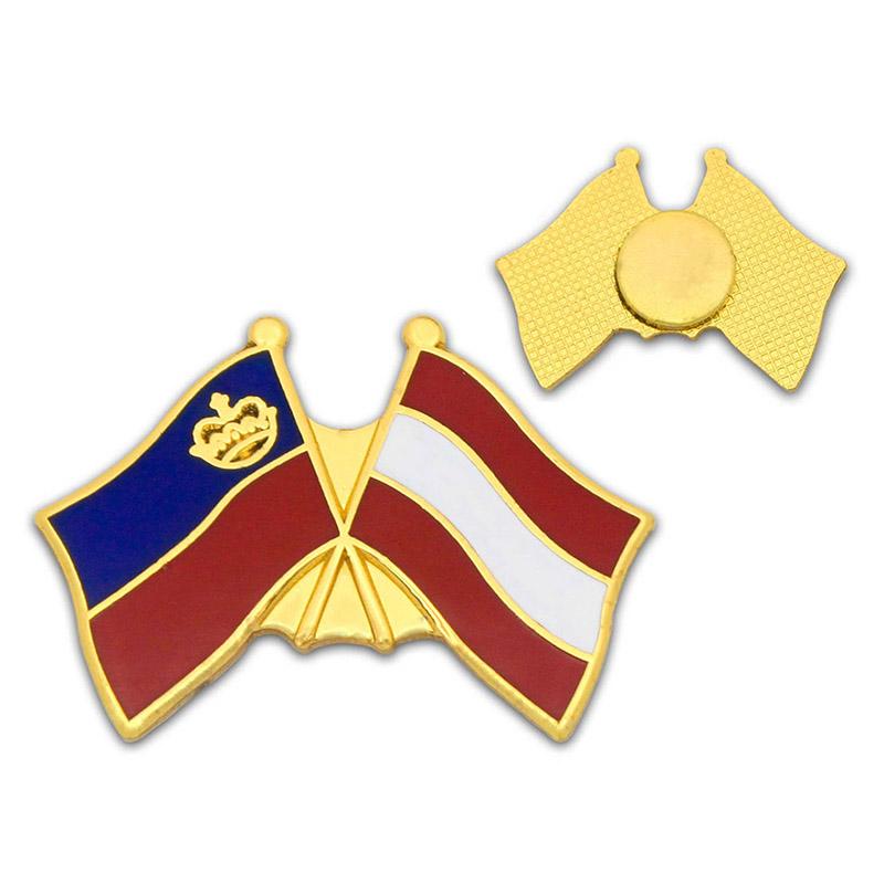 pins med flag venskabemblem logopins adverties
