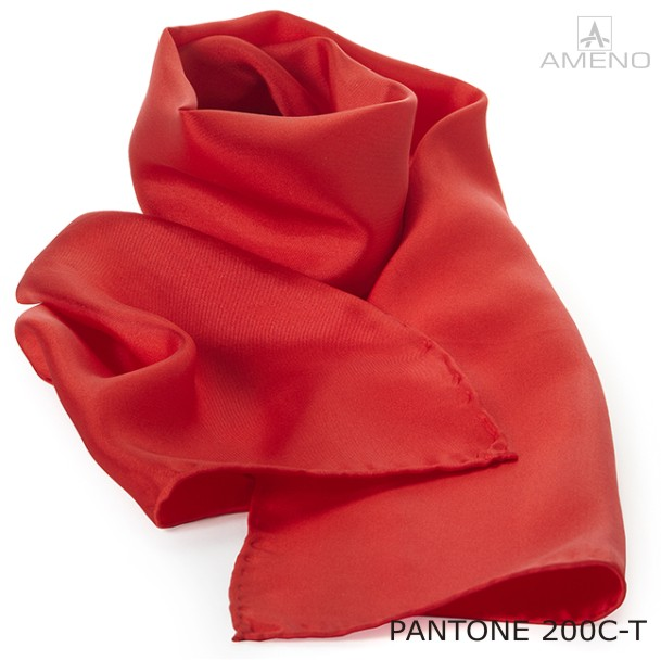 f010cbefaaa Ameno silke tørklæde pantone 200C rød • AdvertiesAdverties